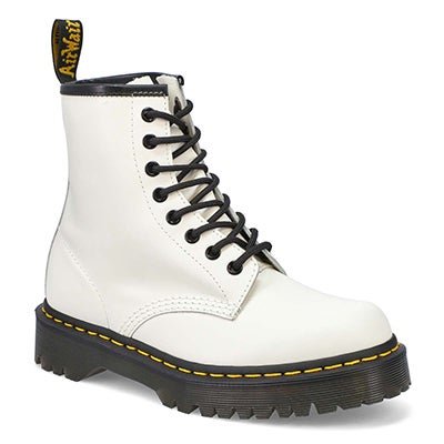 Lds 1460 Bex 8 eye white leather boot