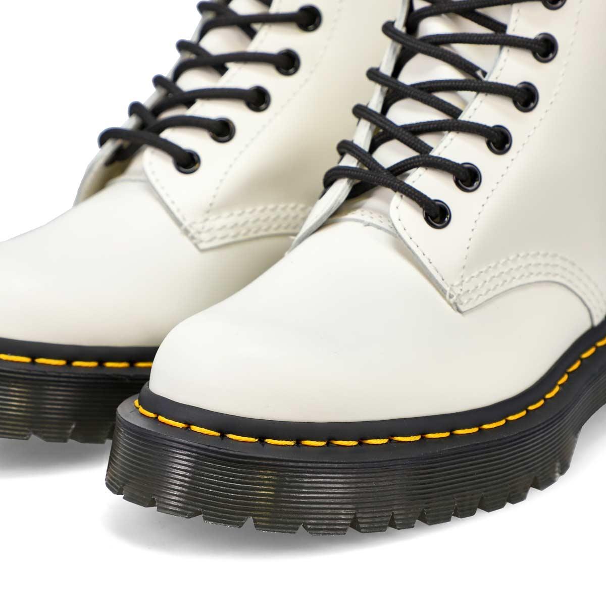 Bottes 8œillets 1460 BEX, cuir, blanc, femmes
