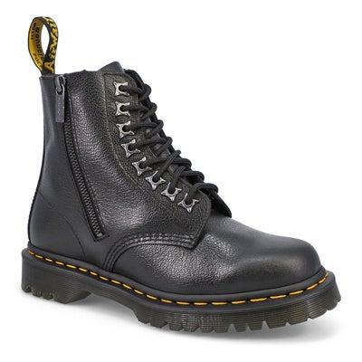 Lds 1460 Pascal Zip Leo blk combat boot