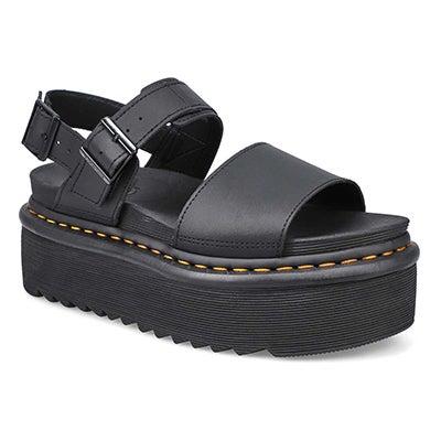 Sandale à plateforme Voss Quad noir fem