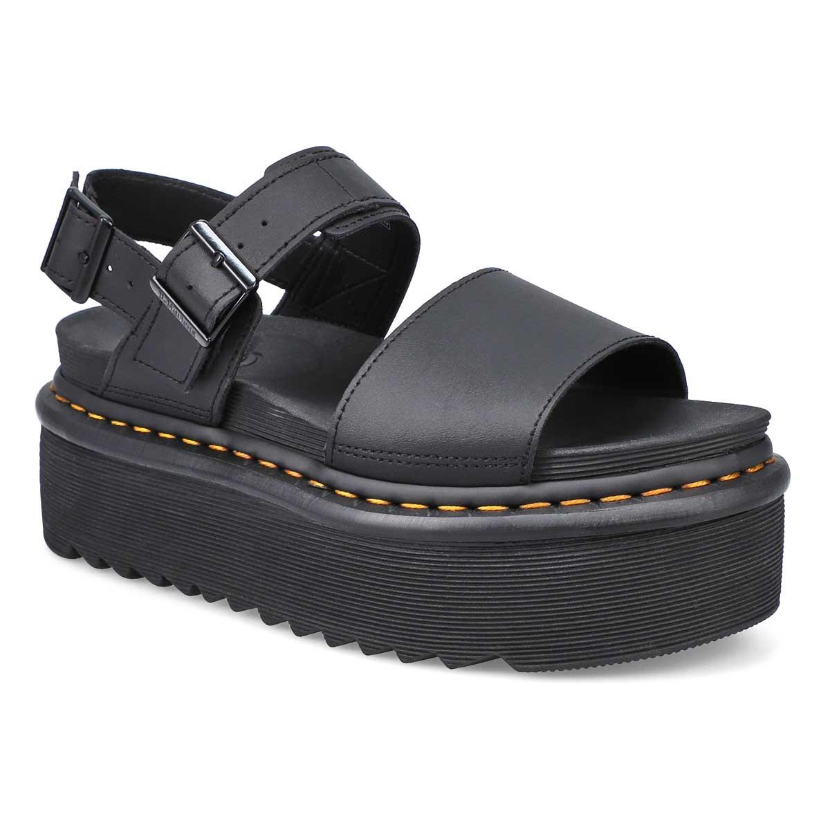 Sandale à plateforme Voss Quad noir femmes