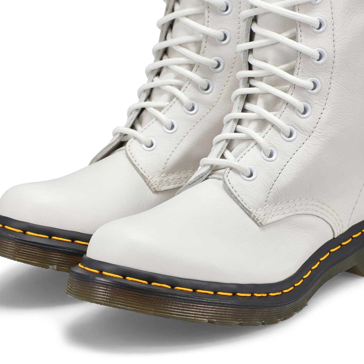 Women's Core Pascal 8-Eye Leather Boot - White
