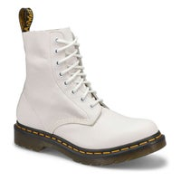 Women's Core Pascal 8-Eye Leather Boot - White