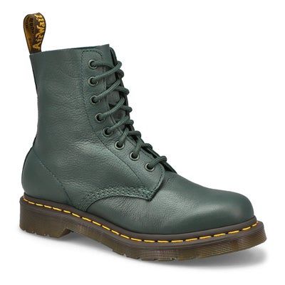 Lds Pascal 8-Eye Soft Leather Boot-Green