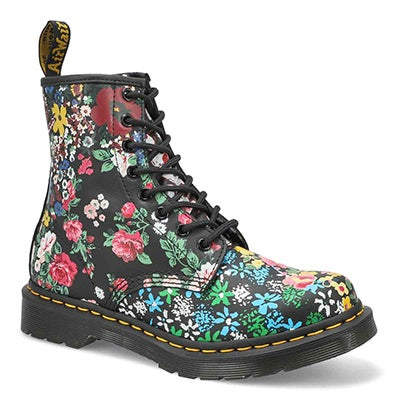 Lds 1460 Pascal 8 Eye Boot - Floral