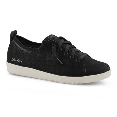 Lds Madison Ave blk/wht lace-up sneaker
