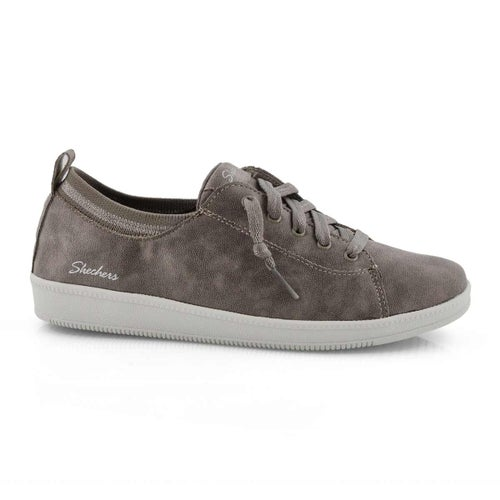 Lds Madison Ave taupe lace-up sneaker