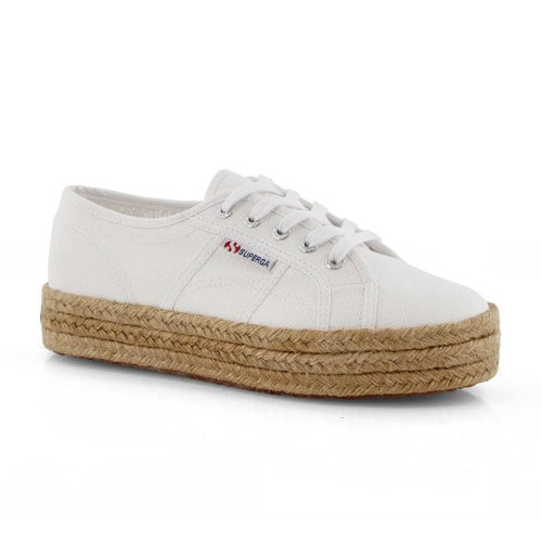 Lds Platform wht rope wrapped canvas snk