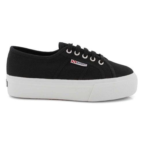 Lds Platform black canvas sneaker