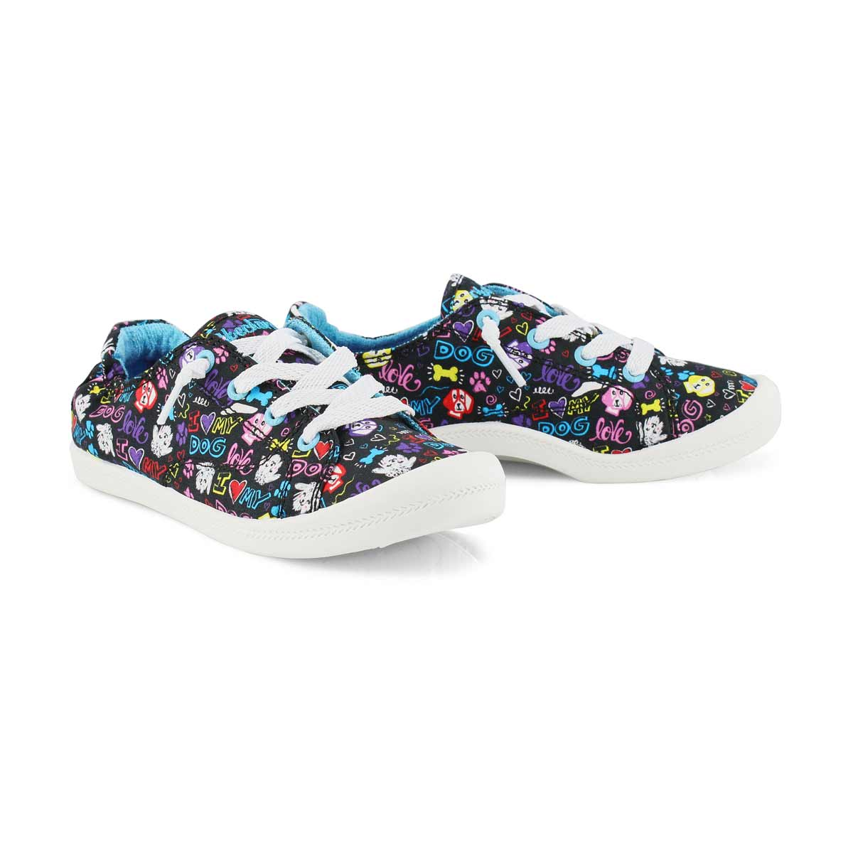 Girls' Beach Bingo Sneakers - Black/Multi