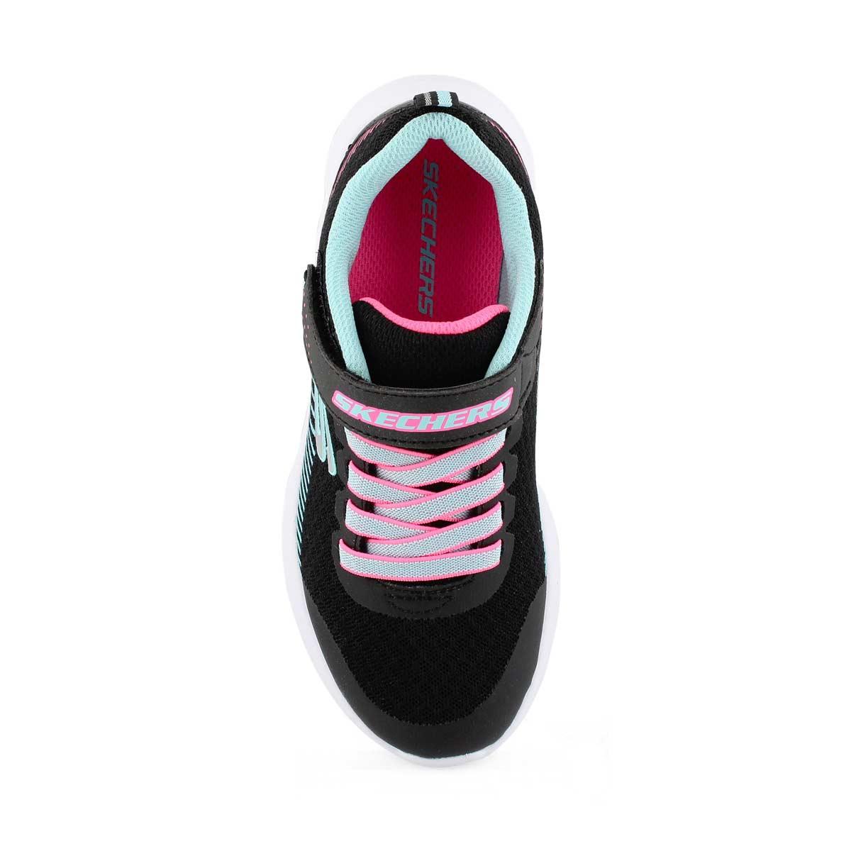 Grls Microspec blk/turq sneaker