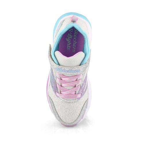 Grls Fusion Flash slv/lvndr sneaker