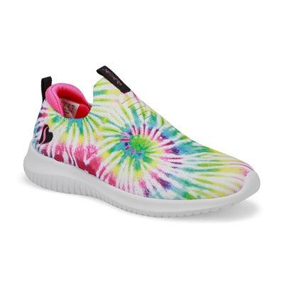 Grls Ultra Flex Slip On Sneaker - Multi