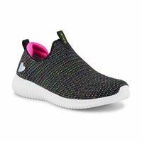 Girls' Ultra Flex Standing Ovation Sneaker - Black