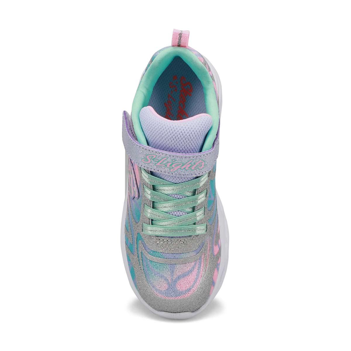 Girls' Twisty Bright Sneakers- Silver/Multi