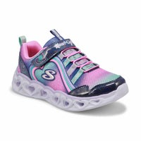 Girls' Heart Lights Rainbow Lux Sneakers - Nvy/Mlt