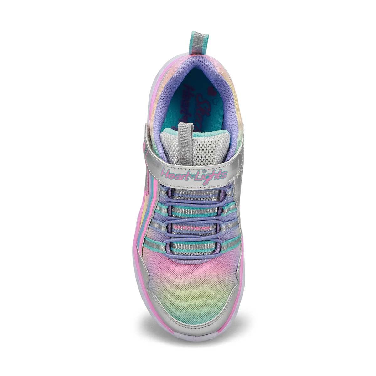 Espadrille Heart Lites Rainbow Lux argt/mlti fille