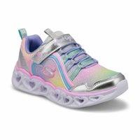 Girls' Heart Lights Rainbow Lux Sneakers - Slv/Mlt