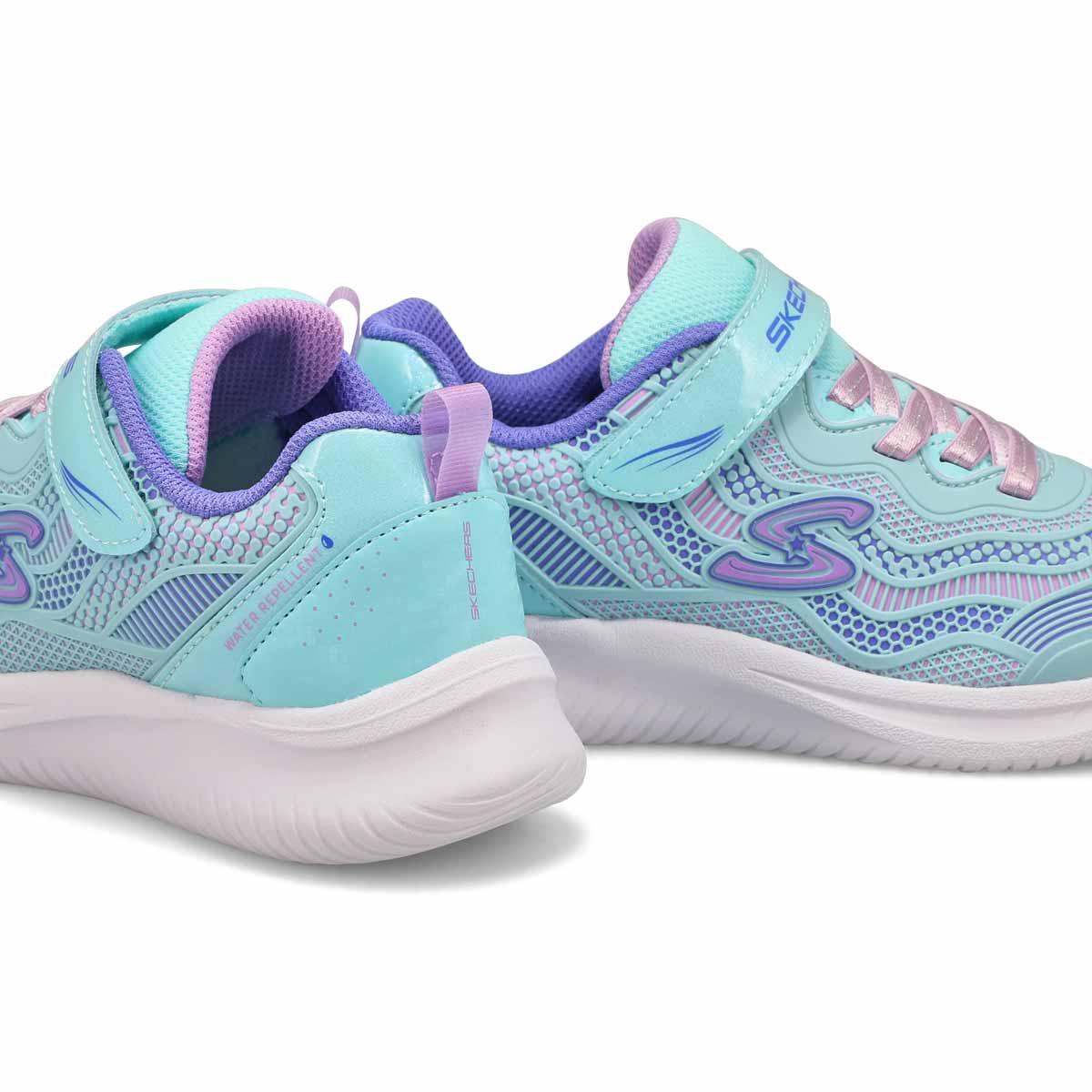 Girls' Jumpsters Sneaker - Aqua/Purple