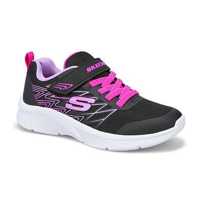 Grls Microspec Bold Delight blk sneaker