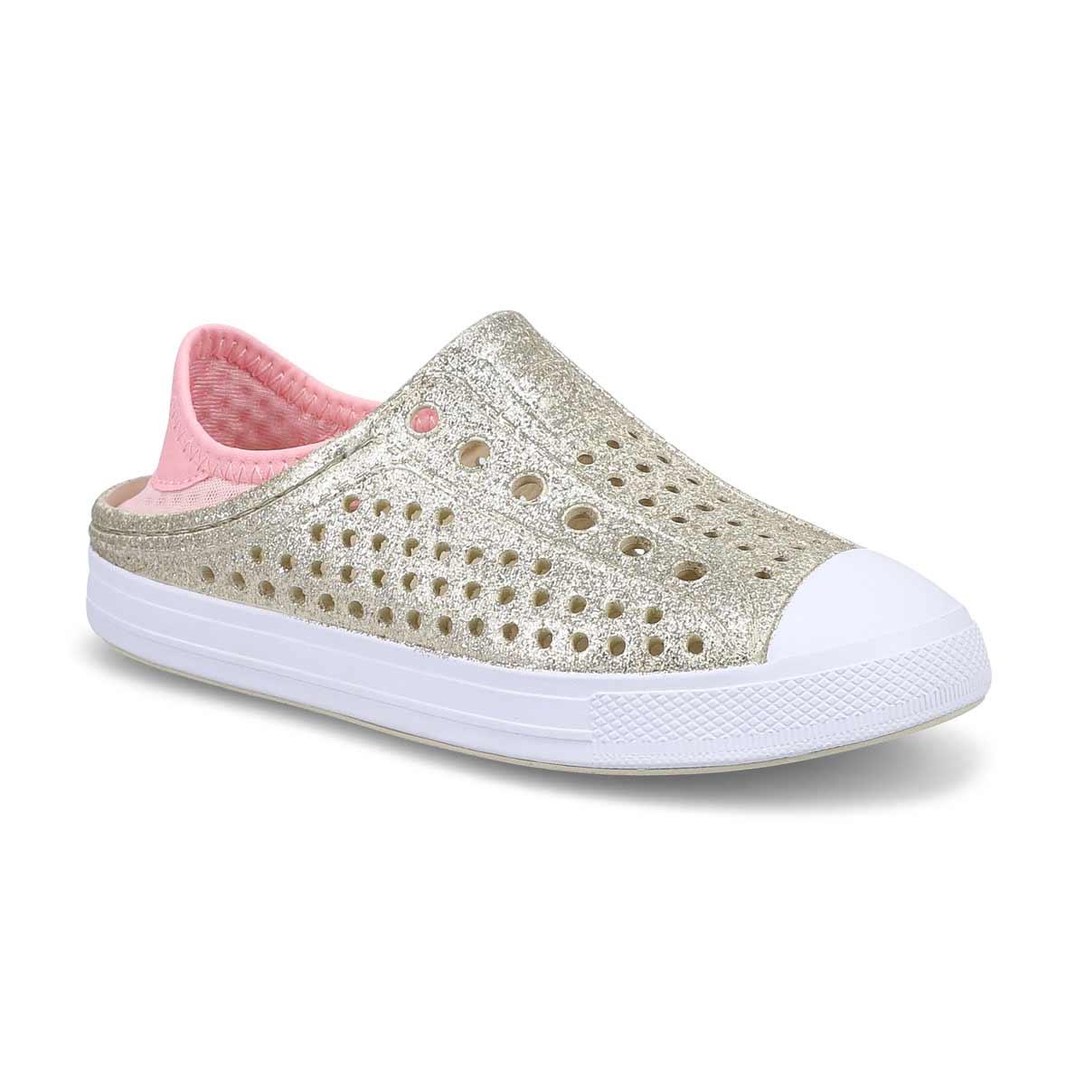 Girls' Guzman Steps Glitter Mist Shoe - Champagne