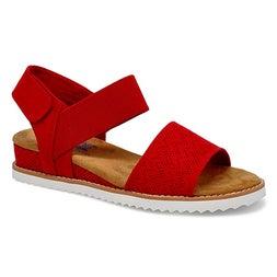 Sandale décont. Desert Kiss, rouge,femme