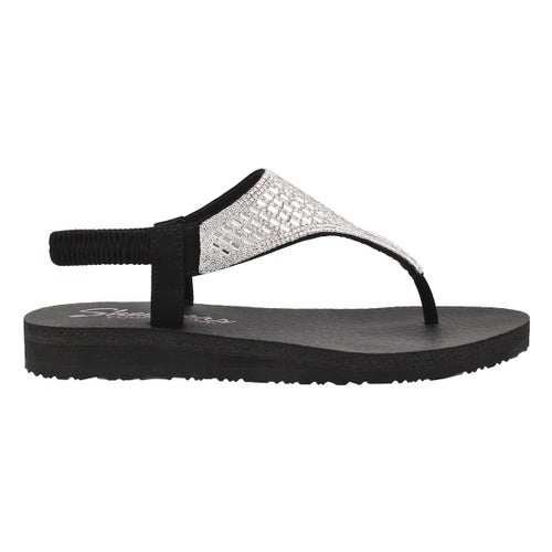 Lds Meditation Rock Crown blk thong sndl