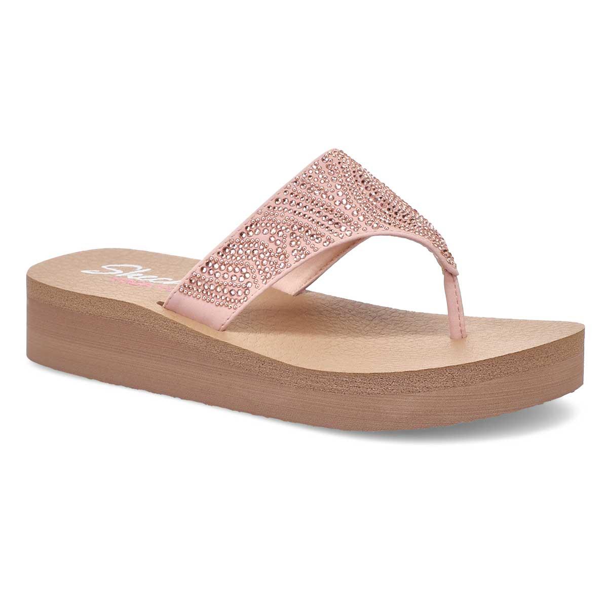 Sandale tong VINYASA STONE CANDY rosé,femmes