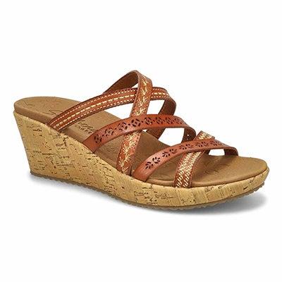 Women's BEVERLEE TIGER POSSE brown wedge sandals