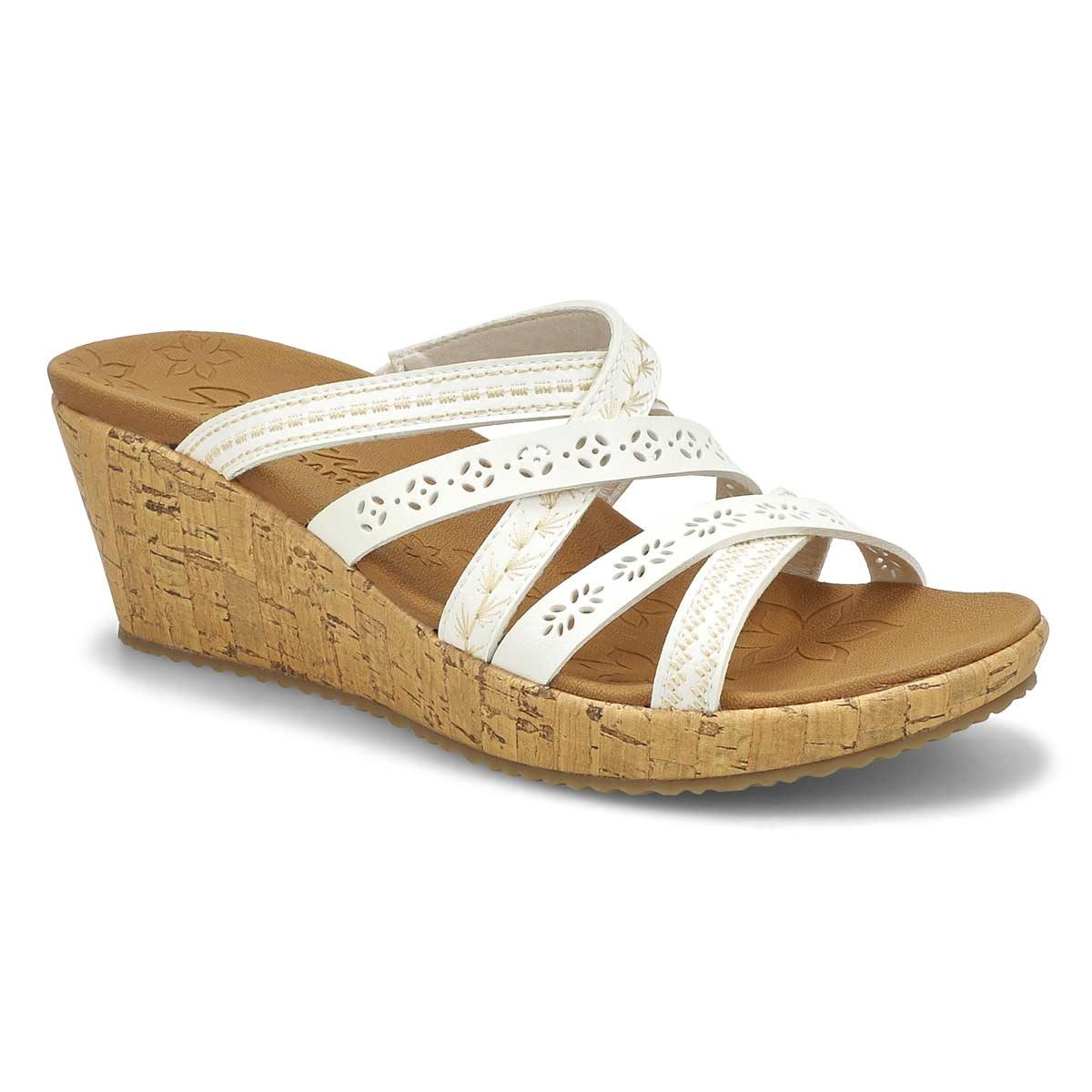 Women's Beverlee Tiger Posse Sandal - White