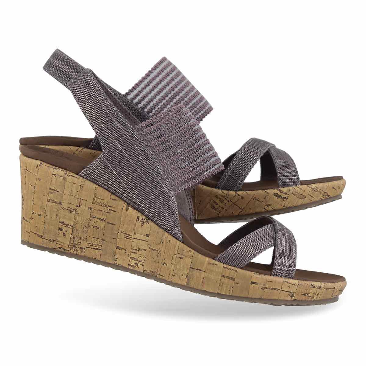 Women's BEVERLEE HIGH TEA mauve wedge sandals