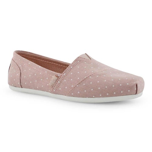Lds Bobs Plush Hot Spot pink dot slip on