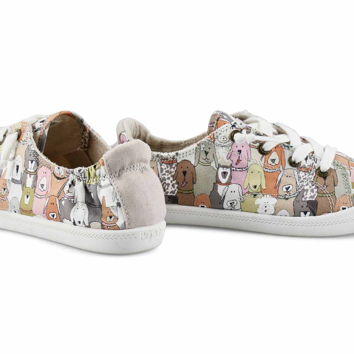 Women's  Bobs Beach Bingo Dog sneakers - tpe/mlt