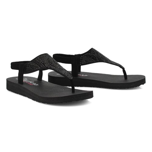 Lds Meditation black thong sandal