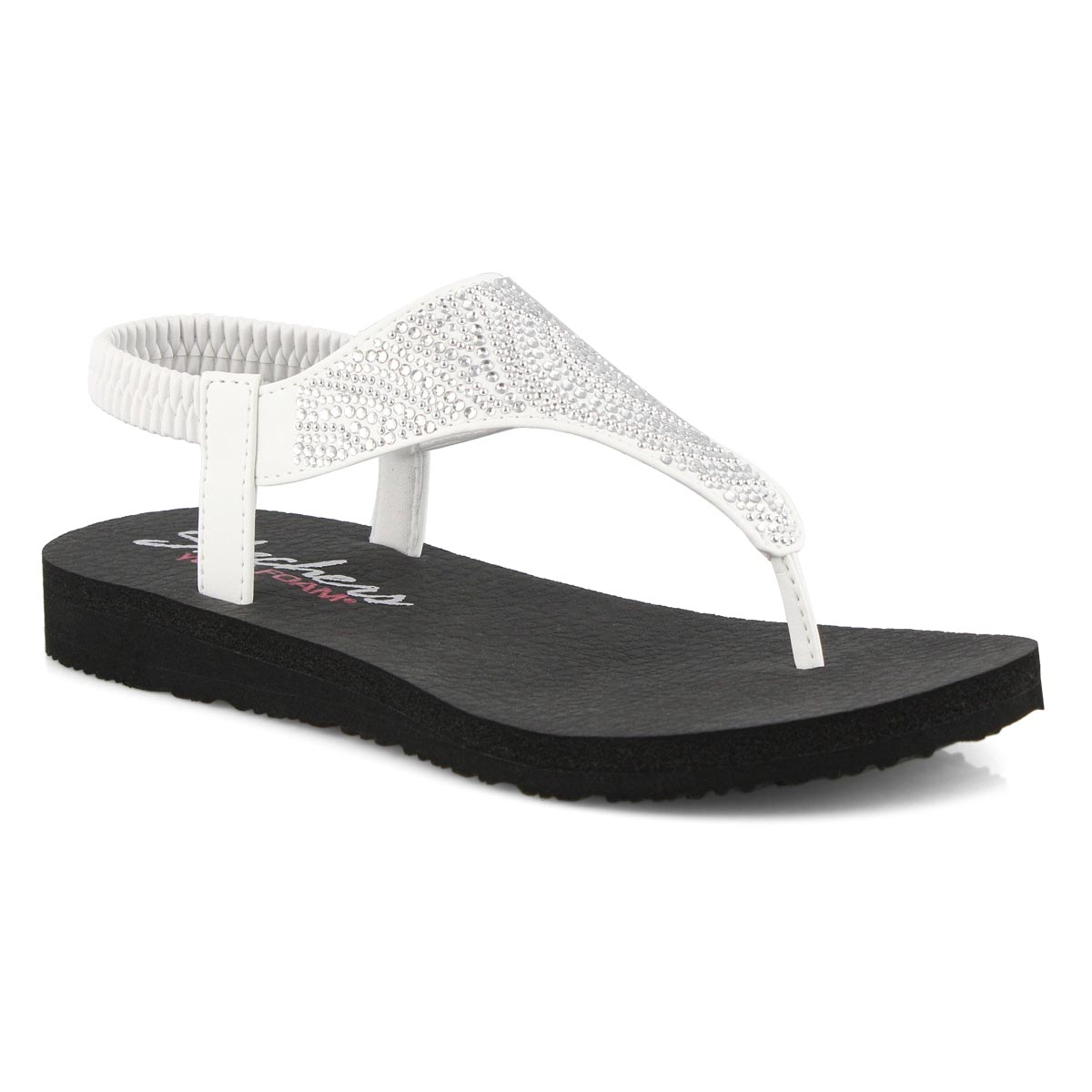 Sandale tong, Mediation, blanc,femme