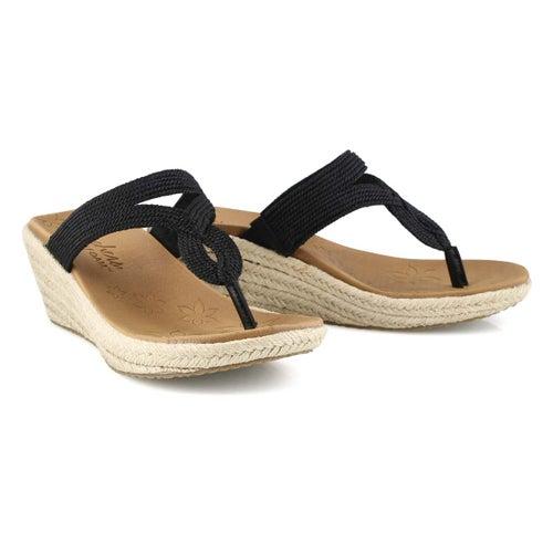 Lds Beverlee black wedge sandal