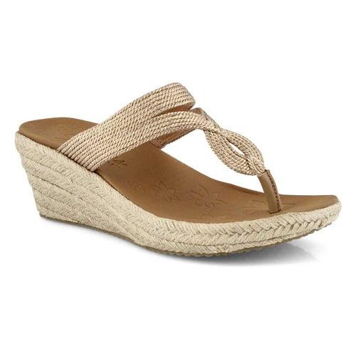 Lds Beverlee rose gold wedge sandal