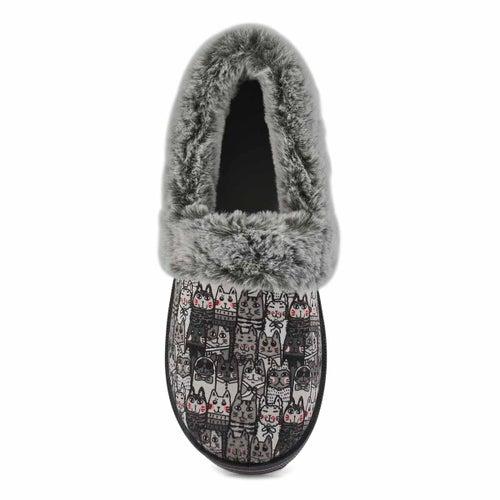 Lds Bobs Too Cozy grey/multi slipper