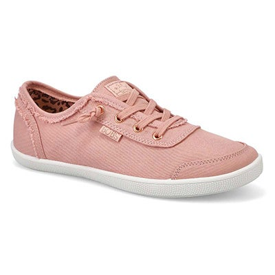 Lds Bobs B Cute blush lace up sneaker
