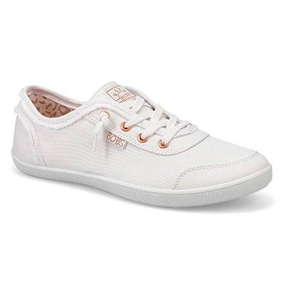 Lds Bobs B Cute Slip On Sneaker - White
