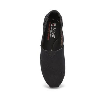 Women's Bobs Plush Peace & Love Shoe - Black