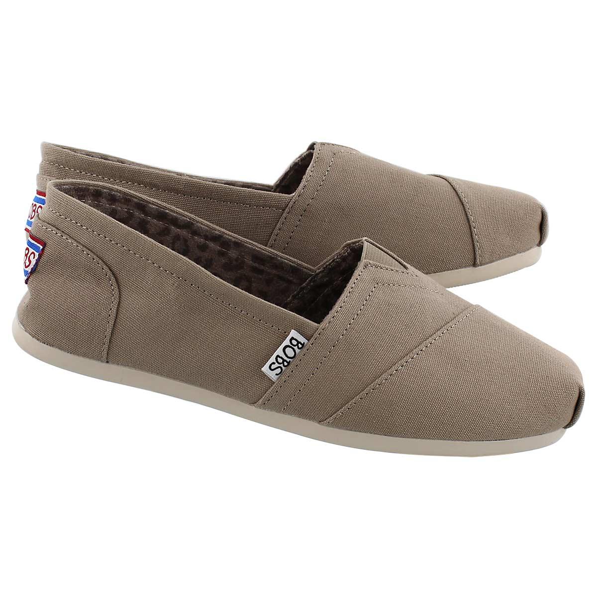 Women's Bobs Plush Peace & Love Shoe - Taupe
