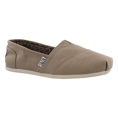 Lds Plush Peace& Love tpe canvas slip on