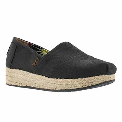 Skechers Women's Bobs HIGH JINX black slip on espadrilles