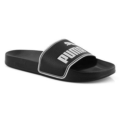 Men's LEADCAT black/white sport slide sandals