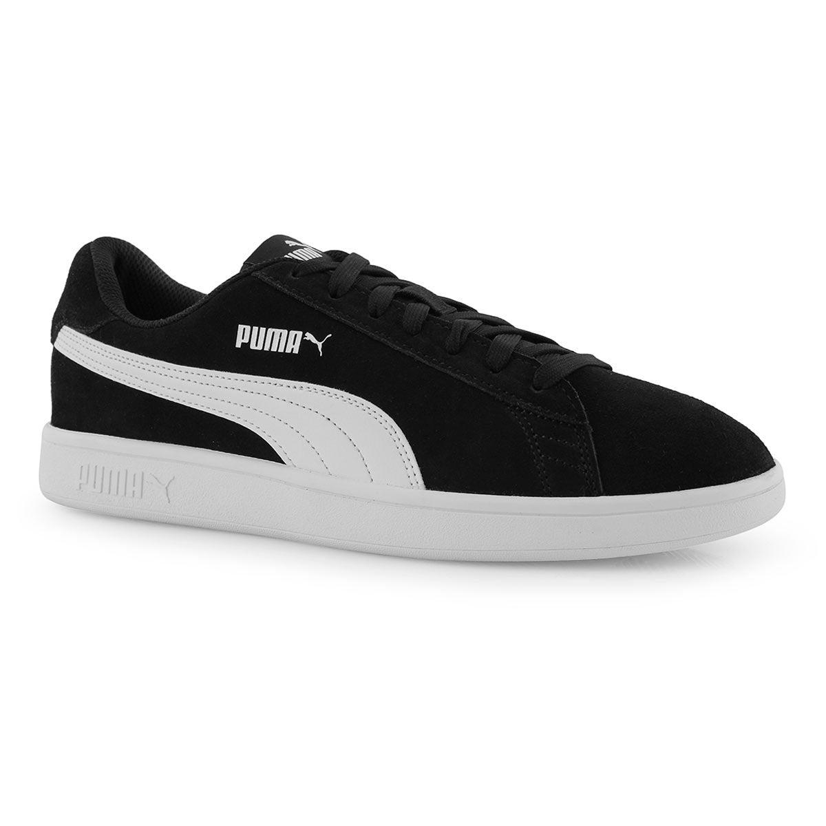 Men's Puma Smash v2 Sneaker- Black/White
