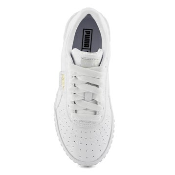 Women's CALI white/white lace up sneakers