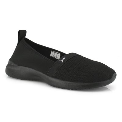 Lds Adelina black/black slip on