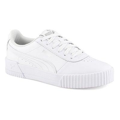 Lds Carina L Lace Up Sneaker- Wht/Wht