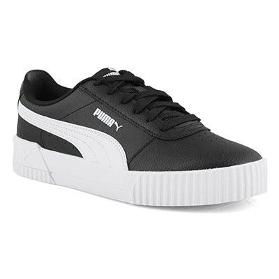 Lds Carina L blk/wht lace up sneaker